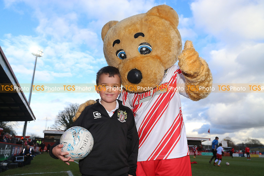 Kids Takeover during Stevenage vs Grimsby Town, Sky Bet EFL League 2 Football at the Lamex Stadium on 28th January 2017
