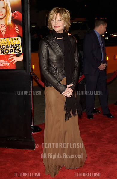 Actress MEG RYAN at the world premiere in Hollywood of her new movie Against the Ropes..February 11, 2004