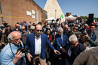 Virginia Raggi (Mayor of Rome, Five Star Movement).<br /> <br /> Rome, 25/04/2018. Today, to mark the 73rd Anniversary of the Italian Liberation from nazi-fascism ('Liberazione'), ANED Roma & ANPI Roma (National Association of Italian Partizans) held a march ('Corteo') from Garbatella to Piazzale Ostiense where a rally took place attended by Partizans, Veterans and politicians – including the Mayor of Rome and the President of Lazio's Region. From the organisers Facebook page:<<For the 25th of April, the 73rd Anniversary of the Liberation of Italy from nazi-fascism, while facing new threats to the world peace, it is necessary to remember that the Fight for Liberation triggered the greatest, positive, 'break' of the whole modern age of the Italian history. The Fight for the Liberation was supported by a great solidarity of the people. The memory of those who in the partizan struggle, in the camps of imprisonment, internment or extermination, opposed - even until the sacrifice of life - the dictatorship, the greed of territorial conquests, crazy ideologies of race supremacy, constitutes concrete warning against any attempt to undermine the foundations of the free institutions born of the Resistance. Memory is not an instrument of hatred or revenge, but of unity in a spirit of harmony without discriminations...<br /> (For the full caption please read the PDF attached at the the beginning of this story).<br /> <br /> For more info please click here: https://bit.ly/2vOIfNf & https://bit.ly/2r4iJy3 & http://www.anpi.it<br /> <br /> For the Wikipedia's page of the 'Liberazione' please click here: https://en.wikipedia.org/wiki/Liberation_Day_(Italy)<br /> <br /> For a Video of the event by Radio Radicale please click here: https://www.radioradicale.it/scheda/539534/manifestazione-promossa-dallanpi-in-occasione-della-73a-festa-della-liberazione