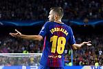 UEFA Champions League 2017/2018 - Matchday 1.<br /> FC Barcelona vs Juventus Football Club: 3-0.<br /> Jordi Alba.