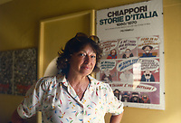 - Inge Feltrinelli, direttrice dell'omonima casa editrice, nella sua casa di Milano negli anni '80<br />