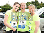 Dyonne and Sheila Matthews and Catriona Finnegan who took part in the Seamie Weldon 5K Run in Ardee. Photo:Colin Bell/pressphotos.ie