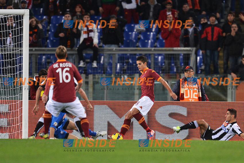 "Gol di Erik Lamela Roma 1-0.Goal celebration.Roma 28/10/2012 Stadio ""Olimpico"".Football Calcio 2012/2013 Serie A.Roma Vs Udinese.Foto Andrea Staccioli Insidefoto"
