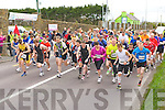 The runners take off for the first leg of the Puck Warriors Duathlon in Killorglin on Saturday..