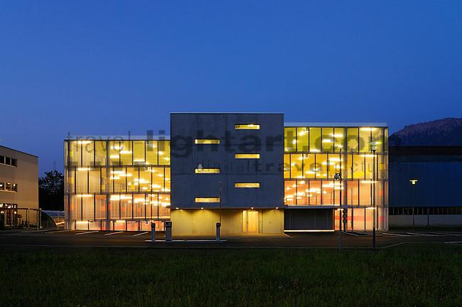 Architekturaufnahmen des LGT Verwaltungsgebäude-Neubaues und der Parkgarage in Gamprin-Bendern. Foto: Paul Trummer / Mauren.