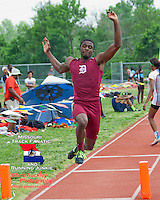 DeSmet senior Chirs Moore captured the long jump title on his final attempt, moving from 5th to 1st with his mark of 21-6, at the Missouri Class 4 Sectional 2 Track and Field Championships and qualify for the State Championship meet.