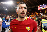 Roma s Aleksandar Kolarov leaves the pitch at the end of the Italian Serie A football match between Roma and Lazio at Rome's Olympic stadium, 18 November 2017. Roma won 2-1.<br /> UPDATE IMAGES PRESS/Riccardo De Luca