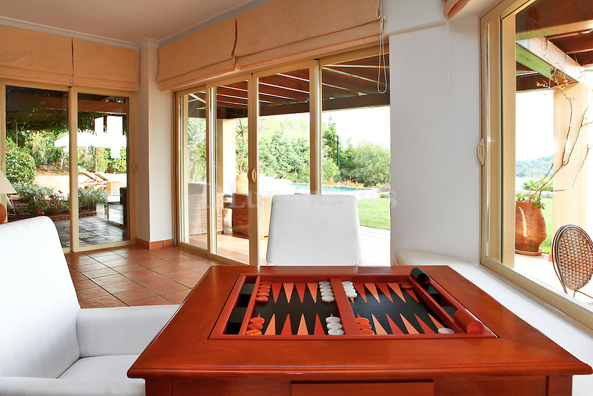 backgammon on a wooden table