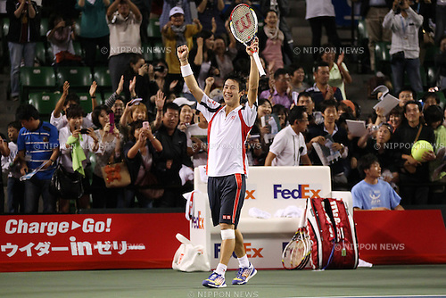Kei Nishikori (JPN), .OCTOBER 5, 2012 - Tennis : .Rakuten Japan Open Tennis Championships 2012 .Men's Singles .at Ariake Coliseum, Tokyo, Japan. .(Photo by YUTAKA/AFLO SPORT) [1040]