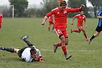 NELSON, NEW ZEALAND - JULY 23: Football Richmond Hornbills v Nelson College 2nd XI, Jubilee Park, July 23, 2016, Nelson, New Zealand. (Photo by: Barry Whitnall Shuttersport Limited)