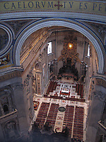 View of St. Peter's from dome - Vatican City