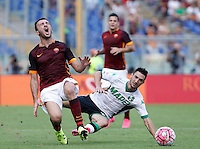 Calcio, Serie A: Roma vs Sassuolo. Roma, stadio Olimpico, 20 settembre 2015.<br /> during the Italian Serie A football match between Roma and Sassuolo at Rome's Olympic stadium, 20 September 2015.<br /> UPDATE IMAGES PRESS/Isabella Bonotto