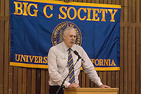 OAKLAND, CA - November 4, 2016: 2016 Inductee Mark McNamara speaks at the Big C Society 31st Annual Hall of Fame Banquet at the Greek Orthodox Cathedral.