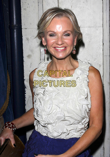 LISA MAXWELL .Attending the 10 years of Loose Women Party held at Cafe de paris, London, England, UK, October 8th 2009..half length sleeveless white cream textured top smiling funny .CAP/AH.©Adam Houghton/Capital Pictures.