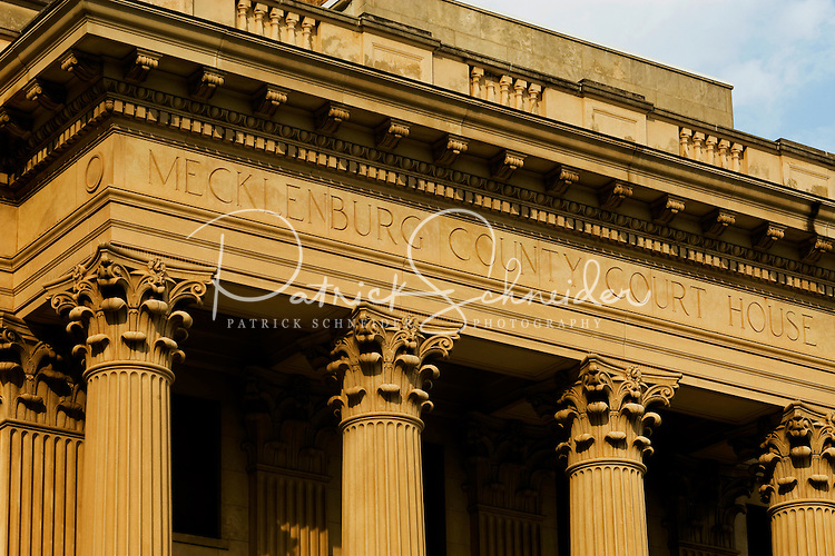 Architectural photography of exterior of Mecklenburg County Court House
