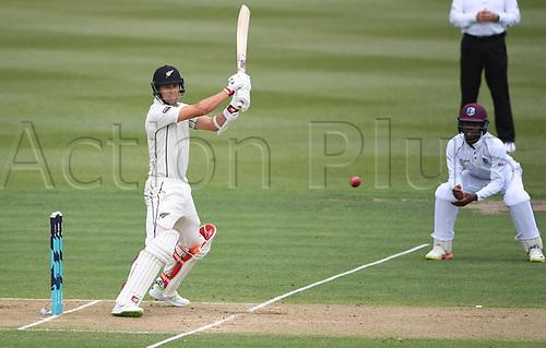 10th December 2017, Seddon Park, Hamilton, New Zealand; International Test Cricket, 2nd Test, Day 2, New Zealand versus West Indies;  Trent Boult batting
