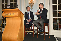 Carl Froch (R) and Adam Smith during the Boxing Writers Club Annual Dinner at the Savoy Hotel on 7th October 2019