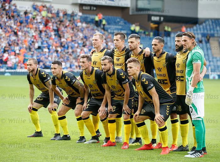 25.07.2019 Rangers v Progres Niederkorn: Progres Niederkorn team