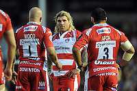 Richard Hibbard of Gloucester Rugby looks on. European Rugby Challenge Cup Final, between Edinburgh Rugby and Gloucester Rugby on May 1, 2015 at the Twickenham Stoop in London, England. Photo by: Patrick Khachfe / Onside Images