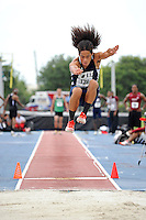 11 May 2013:  Individuals compete in the Men's Long Jump on day two of the 2013 Sun Belt Conference Outdoor Track & field Championships at the Ansin Sports Complex in Miramar, Florida.