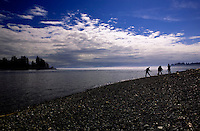 Whiffen Spit encompasses Sooke Harbor west of Victoria, British Columbia.  The spit is a long hike and is entirely public parkland.