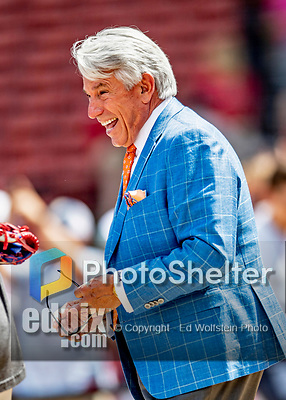 22 June 2019: Toronto Blue Jays television broadcaster Buck Martinez smiles during batting practice prior to a game against the Boston Red Sox at Fenway :Park in Boston, MA. The Blue Jays rallied to defeat the Red Sox 8-7 in the 2nd game of their 3-game series. Mandatory Credit: Ed Wolfstein Photo *** RAW (NEF) Image File Available ***