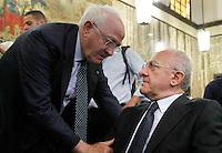 Il Governatore della Campania Vincenzo De Luca e il Presidente del consiglio Comunale Raimondo Pasquino partecipa al Convegno sul mezzogiorno alla fondazione Banco iNapoli