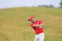Paul Waring (ENG) on the 5th fairway during Round 1 of the D+D Real Czech Masters at the Albatross Golf Resort, Prague, Czech Rep. 31/08/2017<br /> Picture: Golffile | Thos Caffrey<br /> <br /> <br /> All photo usage must carry mandatory copyright credit     (&copy; Golffile | Thos Caffrey)