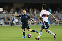 SAN JOSE, CA - AUGUST 24: Magnus Eriksson #7 of the San Jose Earthquakes during a Major League Soccer (MLS) match between the San Jose Earthquakes and the Vancouver Whitecaps FC  on August 24, 2019 at Avaya Stadium in San Jose, California.