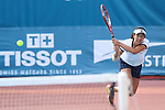 Moyuka Uchijima (JPN), <br /> AUGUST 20, 2018 - Tennis : <br /> Women's Doubles Round of 32 <br /> at Jakabaring Sport Center Tennis Court <br /> during the 2018 Jakarta Palembang Asian Games <br /> in Palembang, Indonesia. <br /> (Photo by Yohei Osada/AFLO SPORT)