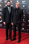 Jose Luis Perales and his son Pablo Perales attends red carpet of Feroz Awards 2018 at Magarinos Complex in Madrid, Spain. January 22, 2018. (ALTERPHOTOS/Borja B.Hojas)