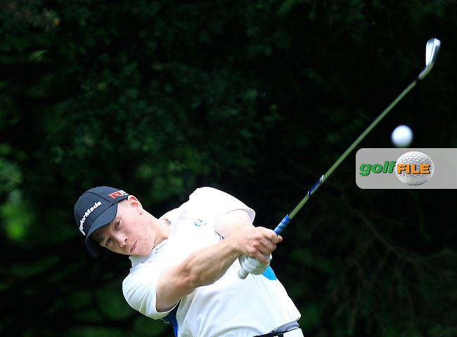 Cathal Butler (Kinsale) on the 2nd tee during Round 3 of the Irish Boys Amateur Open Championship at Tuam Golf Club on Thursday 25th June 2015.<br /> Picture:  Thos Caffrey / www.golffile.ie