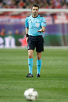 Italian referee Nicola Rizzoli during Champions League 2015/2016 Quarter-Finals 2nd leg match. April 13,2016. (ALTERPHOTOS/Acero) <br /> Madrid 13/4/2016 Vicente Calderon <br /> Football Calcio 2015/2016<br /> Champions League Quarti di finale <br /> Atletico Madrid - Barcellona <br /> Foto Alterphotos / Insidefoto <br /> ITALY ONLY