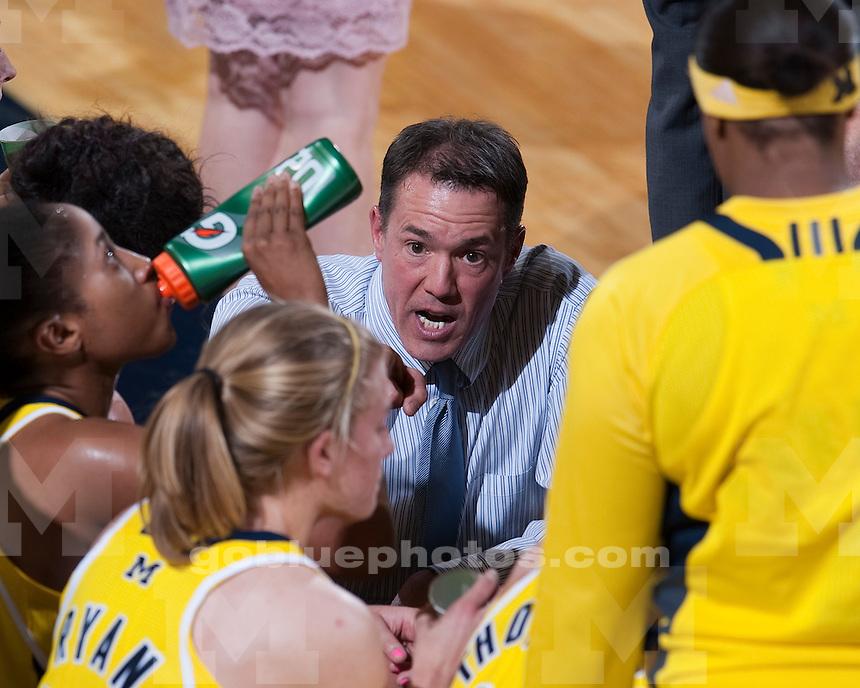 University of Michigan women's basketball 85-76 loss to No. 5 Xavier at Crisler Arena in Ann Arbor, MI, on November 15, 2010.