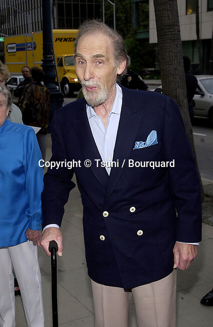 """Sid Caesar arriving at the """"Neil Simon's Laughter on 23th Floor premiere"""",at the Academy of Motion Picture in Los Angeles. It's a comedy about the starting of Neil Simon and Sid Caesar as a leading role. 5/24/2001            -            CaesarSid02.jpg"""