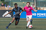 Olympique Marseille (in navy blue) vs Kitchee (in pink), during their Main Tournament match, part of the HKFC Citi Soccer Sevens 2017 on 27 May 2017 at the Hong Kong Football Club, Hong Kong, China. Photo by Marcio Rodrigo Machado / Power Sport Images