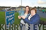Natasha O'Donoghue Chairperson of Ballyspillane residents commitee and Connie O'Leary Center Co-Ordinator Ballyspillane Resourse Centre pictured with the all Ireland pride of place award which was won by the estate.