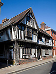 Ancient half timbered black and white building, Oak House, Northgate Street, Ipswich, Suffolk, England