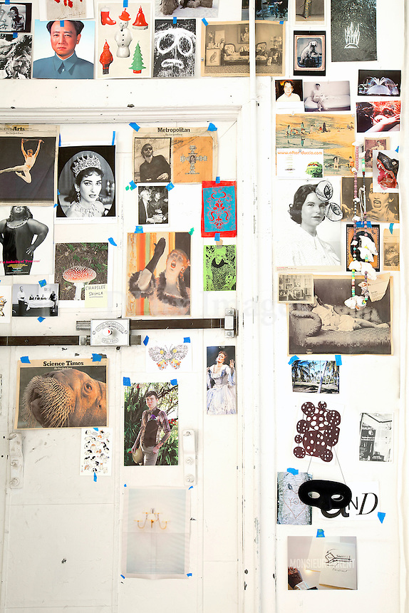 photos on the wall