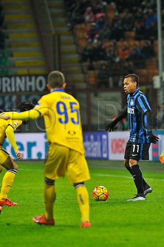 20.02.2016. Milan, Italy.  Jonathan Biabiany of FC Inter in action during the Italian Serie A League soccer match between Inter Milan and UC Sampdoria at San Siro Stadium in Milan, Italy.