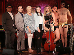 David Yazbeck, Rob McClure, Lorna Luft, Jennifer Damiano, Lauren Molina and Nick Cearley during the Feinsteins/54 Below Press Preview at Feinsteins/54 Below on June 21, 2016 in New York City.