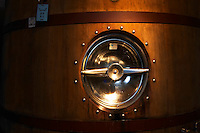 Wooden fermentation tank Bodega Bouza Winery, Canelones, Montevideo, Uruguay, South America
