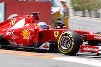 23.06.2012. Valencia, Spain. FIA Formula One World Championship 2012 Grand Prix of Europe Qualifying Session.  Fernando Alonso (Spanish driver of Ferrari)