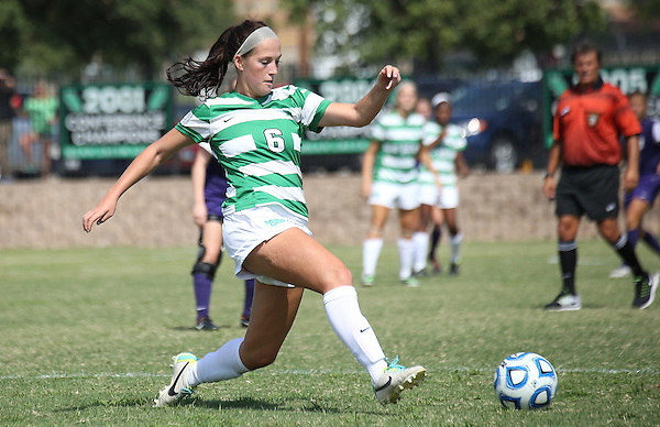 DENTON, TX - SEPTEMBER 21: Molly Grisham #6 of the North Texas at North Texas Soccer Complex in Denton on September 21, 2014 in Denton, Texas.  (Photo by Rick Yeatts)