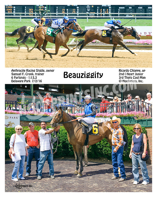 Beauziggity winning at Delaware Park on 7/2/16