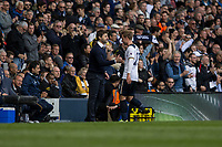Christian Eriksen of Tottenham Hotspur is thanked by manager Mauricio Pochettino as he's substituted during the Premier League match between Tottenham Hotspur and Bournemouth at White Hart Lane, London, England on 15 April 2017. Photo by Mark  Hawkins / PRiME Media Images.