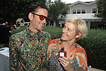 Patrick Giles, Dana Flores==<br /> LAXART 5th Annual Garden Party Presented by Tory Burch==<br /> Private Residence, Beverly Hills, CA==<br /> August 3, 2014==<br /> &copy;LAXART==<br /> Photo: DAVID CROTTY/Laxart.com==