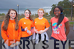 Sophia Vladeva, Ciara Lucid, Rachel O'Regan, Dorcas Oyewande at the Mercy Mounthawk School Fun Run to promote the Cycle Against Suicide Campaign on Friday