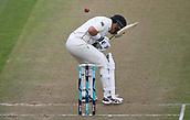 9th December 2017, Seddon Park, Hamilton, New Zealand; International Test Cricket, 2nd Test, Day 1, New Zealand versus West Indies;  Ross Taylor ducks a bouncer