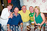 Kerry Hurling Victory: Celebrating Kerry's Hurling victory at Browne's Bar, Ballyduff were Imelda Cook-Daly, Jimmy Slattery, Jimmy O'Sullivan, John O'Connor & Liz Sheehan.